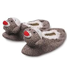 CHILDREN'S SOCK MONKEY SLIPPERS