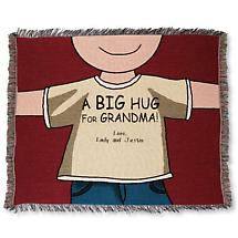 PERSONALIZED BIG HUG THROW - GRANDMA