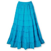 BLUE BROOM SKIRT