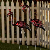 DEVIL FLAMINGOS (SET OF 2)