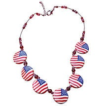 PATRIOTIC JEWELRY - CLAY NECKLACE