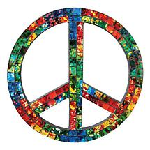 REVERSE PAINTED GLASS PEACE SIGN