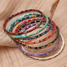 CLOISONNE BRACELETS (SET OF 7)