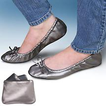 SIDEKICKS™ FOLDABLE SHOES - SILVER