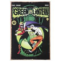 GREEN LANTERN COMIC BOOK COVER TIN SIGN