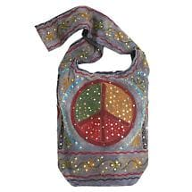 PEACE SIGN SHOULDER BAG