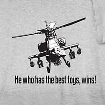 HE WHO HAS THE BEST TOYS, WINS! SHIRT