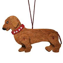 DACHSHUND RECYCLED WOOL ORNAMENT