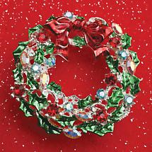 HOLIDAY BROOCH - WREATH