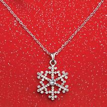 "SNOWFLAKE JEWELRY - PENDANT WITH 16"" CHAIN"