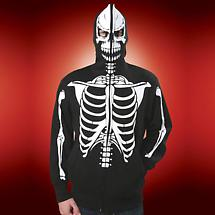 SKELETON HOOD SWEATSHIRT (BLACK AND WHITE)