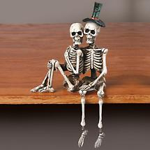 SKELETON COUPLE SHELF SITTER