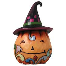 HALLOWEEN MINI FIGURINE - PUMPKIN WITH HAT