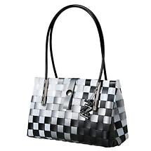 ZIG ZAG PERFECT LITTLE BAG - BLACK & WHITE