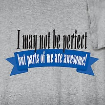 I MAY NOT BE PERFECT BUT PARTS OF ME ARE AWESOME SHIRT