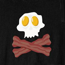BACON AND EGGS CROSSBONES SHIRT