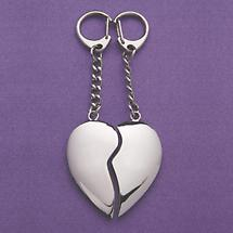 SPLIT HEART KEY CHAIN