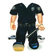 TODDLER COSTUME TEE - POLICEMAN