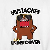 MUSTACHES ARE UNDERCOVER T-SHIRT