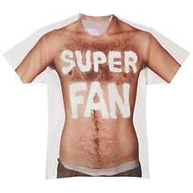 SHAVED CHEST SUPER FAN T-SHIRT