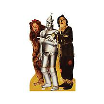 Life-Size Cardboard Movie Standup - Wiz Of Oz Lion Tinman Scarecrow Trio