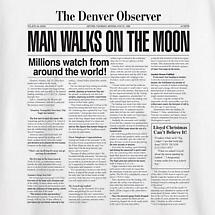MAN WALKS ON THE MOON SHIRT