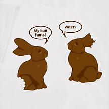 TALKING CHOCOLATE BUNNIES SHIRT