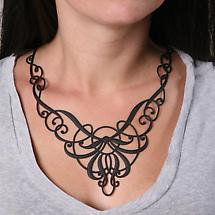 FLEXIBLE BODY ART JEWELRY - NOUVEAU SWIRLS (BLACK)