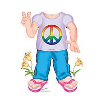 CHILDREN'S COSTUME TEE - PEACE SIGN