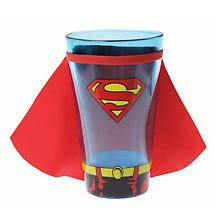 GLASS WITH CAPE - SUPERMAN