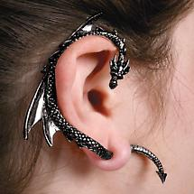 BLACK DRAGON EAR CUFF