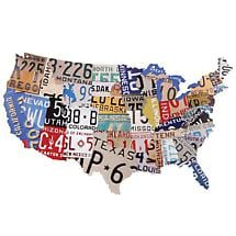 USA LICENSE PLATES PLAQUE