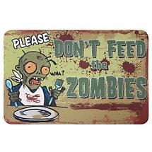 Don't Feed The Zombies Mat