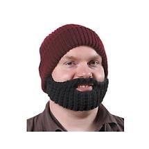 SHORT BLACK BEARD AND MAROON HAT
