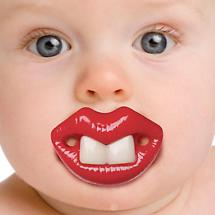 FUNNY FACE PACIFIER - BROADWAY BABY (RED LIPS AND 2 TEETH)