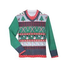 MEN'S FAUX REAL UGLY CHRISTMAS SWEATER