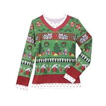 LADIES FAUX REAL UGLY CHRISTMAS SWEATER