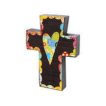 PATCHWORK HEART CROSS