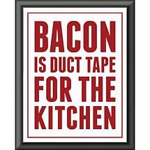 BACON IS DUCT TAPE WALL PLAQUE