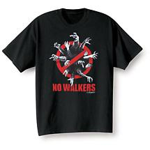 THE WALKING DEAD NO WALKERS SHIRT