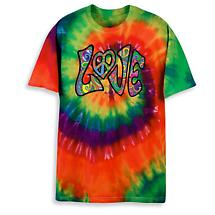 LOVE TIE DYE TRANSFER SHIRT