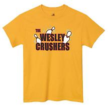 THE WESLEY CRUSHERS BIG BANG THEORY BOWLING SHIRT
