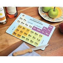 PERIODIC TABLE OF ENTERTAINING BOARD/PLATTER