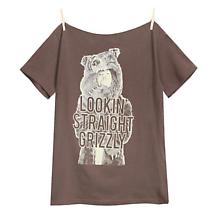 WORKAHOLICS LOOKIN' STRAIGHT GRIZZLY SHIRT