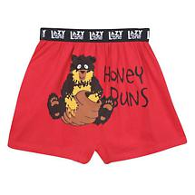 Honey Buns Funny Boxers with Bear in Cotton with Elastic Waist