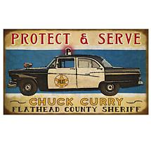 Personalized Service Signs - Police