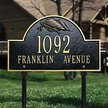 Personalized Flag Address Lawn Sign