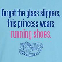This Princess Wears Running Shoes Ladies T-Shirt