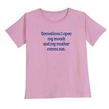 Open My Mouth Mother Comes Out T Shirt