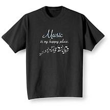 Music Is My Happy Place T Shirt
